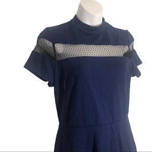 Express Navy Cut Out Dress